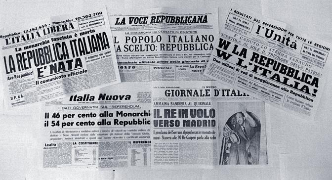 Il 2 giugno 1946 l'Italia scelse di essere Repubblica