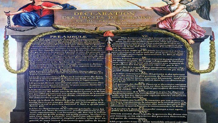 Il 16 agosto del 1789 fu varata la Dichiarazione dei diritti dell'uomo